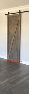 Custom Sliding Barn Door Bypass Soft Closed Handcrafted Rustic