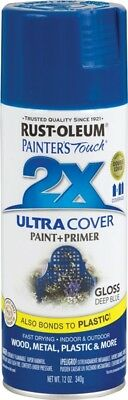 - NEW CASE OF (6) RUSTOLEUM 249114 ULTRA COVER 2X DEEP BLUE SPRAY PAINT 8887416