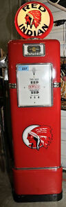 Gas Pump & air meter; Texaco,SHELL,Supertest,Harley,Red Indian &