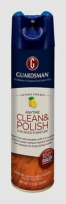 New! 460300 *GUARDSMAN* Anytime Clean & Polish for Wood Furniture 12.5 oz, Lemon