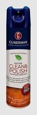12.5oz GUARDSMAN Anytime Clean & Polish Protects Wood Furniture Woodland Fresh