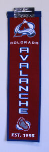 COLORADO AVALANCHE WOOL BANNERS WINNING STREAK Peterborough Peterborough Area image 1