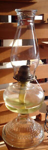 White Flame Light Co Oil Lamp