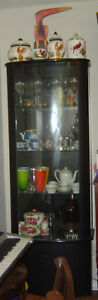 Modern Black and Glass Display Cabinet
