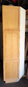 KITCHEN CRAFT TALL END SOLID OAK CABINET