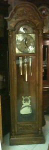 Beautiful Oak Trend, by Sligh Cable Drive Grandfather Clock London Ontario image 1