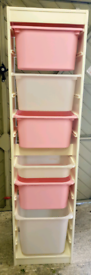 Ikea Trofast Toy Storage Unit and 6 Boxes