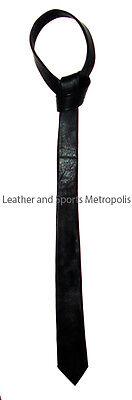 Stylish Black Leather Ties