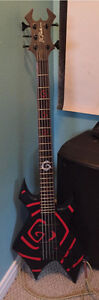 BC Rich 5 string Vortex signature electric Bass guitar