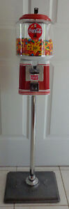 Beaver Coke Themed Gumball Machine With Stand