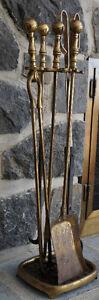 Fireplace Log Rack and Tool Set