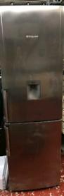 Silver hotpoint Water dispenser fridge freezer frost free