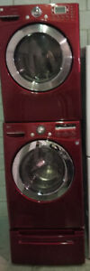 "LG 27"" front load washer/dryer laundry appliance set"