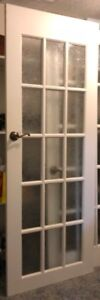 """FRENCH DOORS - WITH 15 GLASS LITE PANES - 30"""" X 80"""""""
