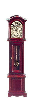 Grandfather Clock Dollhouse Miniature Mahognay 1:12 Scale6¼