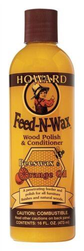 Howard Products FW0016 Wood Polish & Conditioner, 16 oz, Orange