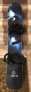 Never Summer 25 Snowboard (151 cm) + Burton Bindings