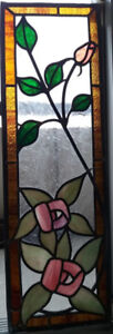 Stained Glass Window Panel or Cabinet Insert