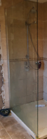 Shower pain of toughened glass