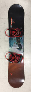 127cm Used Dynasty snowboard with used bindings combo