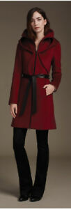 BNWT Soia & Kyo Arya red/burgundy wool coat XL