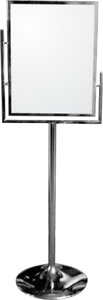 Chrome display Sign holder