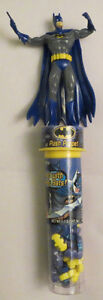 4 Inch Tall PUSH PUPPET Action Figure of BATMAN w Candies 2007