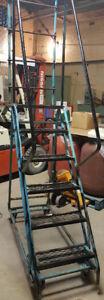 6 Step Rolling Safety Ladder