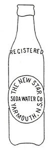 WANTED STERLING BEVERAGES OR NEW STAR SODA BOTTLE FROM YARMOUTH
