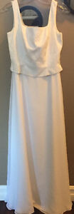 **SIMPLE WHITE WEDDING DRESS FOR SALE-SIZE 6**
