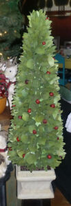Holiday decor - Pier 1 - 36 inch Wood Curl tree
