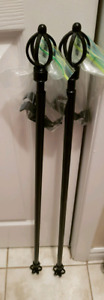 2 Matching Curtain Rods