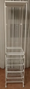 IKEA ALGOT Frame With Rod/Wire Baskets White