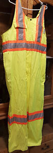 High Vis Jacket 2XL Yellow Coveralls Pants Stalworth Quesnel