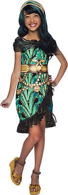 Monster High Childrens Costumes (Girls Monster High Cleo de Nile Costume Fancy Dress Denial Kids Child L)