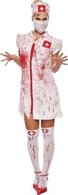 Mot - Damen Kostüm blutige Horror Krankenschwester zu Halloween