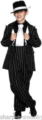 1920 Kinder Kostüme (Jungen Kinder 1920s Jahre Gangster Great Gatsby Bugsy Malone Kostüm Kleid Outfit)