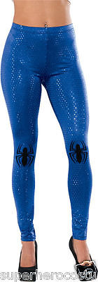The Amazing Spider-Man Spider-Girl Sequin Leggings One Size Blue Rubies 35676 - Amazing Girls Halloween Costumes
