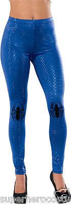 Spiderman Girl Kostüme (The Amazing Spider-Man Spider-Girl Sequin Leggings One Size Blue Rubies 35676)