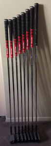LEFT HANDED TAYLORMADE BURNER IRONS (4-PW, AW)