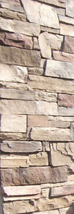 40 sf of wall stone