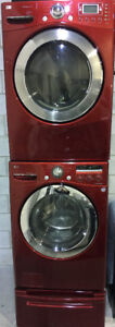 LG Red Front load washer & dryer set PRICE $1299 (TWO AVAILABLE