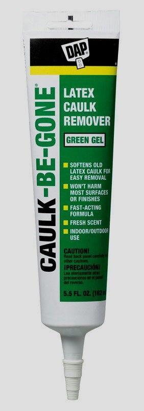 Dap CAULK-BE-GONE Odorless Latex Caulk Sealant Remover Gel Fast 5.5 oz New 18026