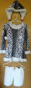 SNOW LEOPARD costume super cute! Size youth large 12-14