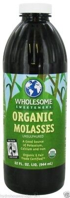 Wholesome Sweeteners Organic Kosher Blackstrap Molasses  32 Fl  Oz  32 Ounces