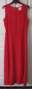 Long Red & White Polka Dot Sleeveless Dress Size 8 Unworn