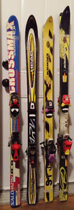 KIDS Head Salomon Downhill Shaped Skis 140-150 in Crowsnest Pass