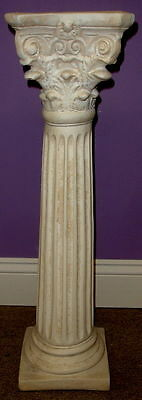 Greek Column Decorations (Classic Greek Roman Column Pedestal Corinthian Style Fluted Home Decor)