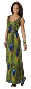 Connected Apparel Women's Belted Maxi Dress Size 8, New