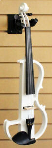 Electric Silent Violin White